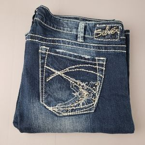 Silver jeans Tuesday boot cut distressed jeans